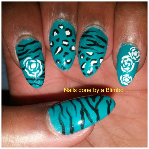 zebra and cheatah print with roses