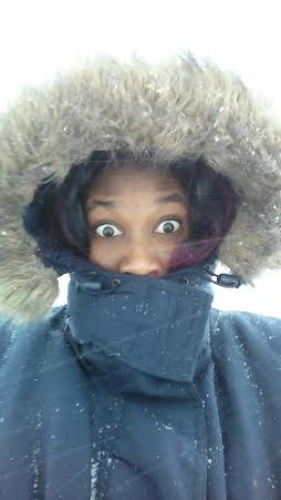 me bundled up in the snow