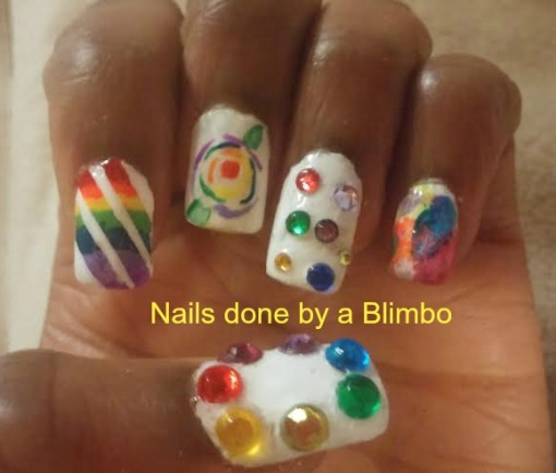 rainbow brite mani